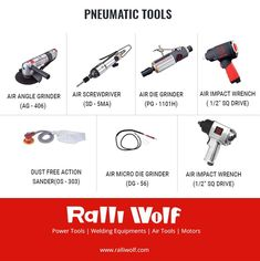 Explore a complete range of pneumatic tools, ergonomically designed, compact powerful and durable at http://ralliwolf.com