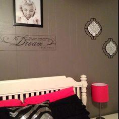 My Marilyn Monroe themed bedroom #Bedroomdesignideas