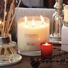 Winter Large 3-Wick Candle from The White Company