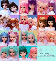 "Super cute ""Licca duos mosaic"" by houseofduke  #doll #licca #color"