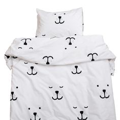 NEW * Animal face bedding, single bed size by Tellkiddo * www.the-pippa-and-ike-show.com