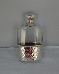 Antique Silver Hip Flasks and silver spirit flasks from Nigel Williams, Antique Silver, Petworth West Sussex Penne Alla Vodka, Baskets, Table Accessories, Basket Weaving, Whisky, Antique Silver, Barrel, Flasks, Perfume Bottles
