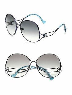 aa83edf0defb Balenciaga - Over-Sized Metal Sunglasses