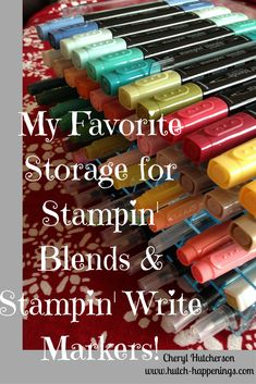 Great storage solution for Stampin' Blends and Stampin' Write Markers