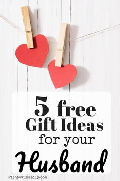 Five Totally Free Gift Ideas for Husbands - Do you struggle to find the perfect gift for your husband? With this list of five free gift ideas f - Free Gifts For Husband, Valentine Gifts For Husband, Diy Gifts For Men, Birthday Gifts For Husband, Cheap Gifts, Gifts For Coworkers, Gifts For Girls, Valentines, Unique Gifts