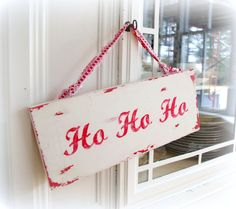 Rustic Christmas Sign Ho Ho Ho Country Christmas by CountryChiq, $25.00
