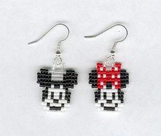Mickey and Minnie Mouse Beaded Earrings  by Foxy Momma on etsy by Foxy-Momma, via Flickr