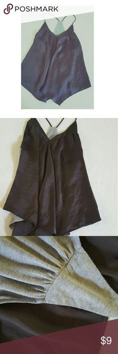 Racer  Back Tank Light weight, satin in front cotton in back! Shiny dark Coffee like color straps are not adjustable. Gently worn great condition! Tops Tank Tops