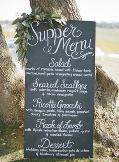 Tall standing menu: http://www.stylemepretty.com/vault/search/images/calligraphy