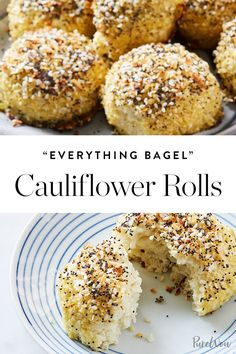 'Everything Bagel' Cauliflower Rolls  #purewow #bread #food #recipe #cooking #cauliflower