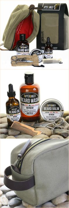 Beard Kit Grooming for Men By DapperGanger. Balm, Wash, Oil, Comb & Grooming…
