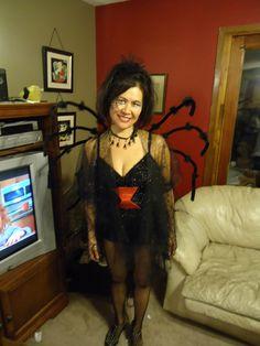 Homemade black widow costume