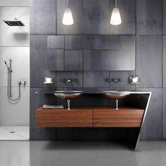 In the modern bathroom, bathroom vanity is an important component. Modern bathroom vanities can make the bathroom interior looks elegant and clean. Bathroom Vanity Designs, Modern Bathroom Lighting, Small Bathroom Vanities, Modern Master Bathroom, Bathroom Sink Vanity, Modern Bathroom Design, Bathroom Styling, Bathroom Ideas, Modern Sink