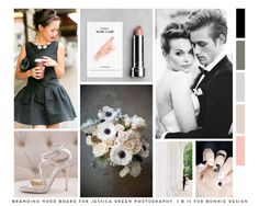 soft, feminine, classic branding mood board for Jessica Green Photography | b is for bonnie design