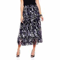 "Antthony ""Lorana"" Status Tiered Chiffon Skirt"