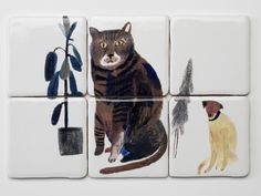 Cat and Dog Tiles - The New Craftsmen