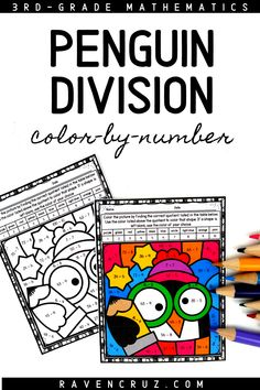 These penguin-themed division color by number worksheets are a concrete way for students to practice division fluency. The division worksheets are perfect for 3rd-grade and 4th-grade classroom and homeschool math students. #mathwithraven Multiplication Worksheets, Number Worksheets, Math Games, Math Activities, Common Core Math Standards, 4th Grade Classroom, Third Grade Math, Homeschool Math, Elementary Math
