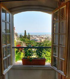 Look out the window on Cagnes-sur-Mer, Provence-Alpes-Côte d'Azur, #France. What adventures await?