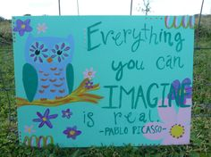 Owl Everything you can imagine is real by 2paperpackages on Etsy, $12.00