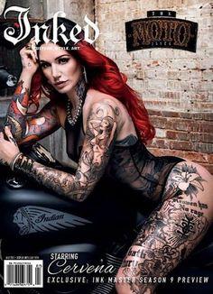 Inked - One Year Subscription Shoulder Sleeve Tattoos, Sleeve Tattoos For Women, Women Sleeve, Hot Tattoos, Girl Tattoos, Full Body Tattoos, Girl Face Tattoo, Magazine Inked, Cervena Fox