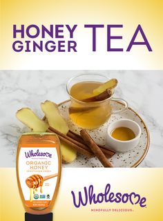 This Honey Ginger Tea recipe will help create sweet moments. Shot Recipes, Honey Recipes, Tea Recipes, Drink Recipes, Ginger And Honey, Ginger Tea, Tea Cocktails, Tea Drinks, Beverages