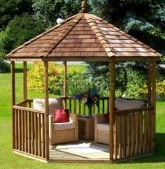 Wooden Gazebo 63 – Octagonal Whilst old inside notion, the actual pergola may be enduring Outside Gazebo, Small Gazebo, Hot Tub Gazebo, Gazebo Pergola, Gazebo Ideas, Cheap Pergola, Patio Roof, Patio Ideas, Wooden Pavilion