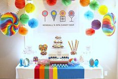 Kendall's Spa Candy Bar Birthday | CatchMyParty.com