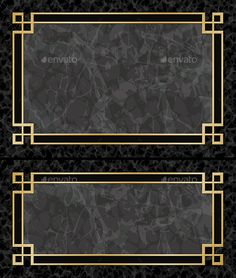 Two Black Marble Backgrounds with Gold Frames, Borders Aspect Ratios Fu. - Two Black Marble Backgrounds with Gold Frames, Borders Aspect Ratios Fully editable vector - Marble Wall, Marble Floor, Marble Tiles, Floor Patterns, Tile Patterns, Black Marble Background, Art Deco Borders, Boarder Designs, Beige Marble