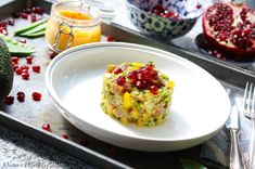 This Tuna Tartare is a combination of fresh, fruity, crunchy, spicy, and creamy textures all in one bite. Longest Recipe, Spicy Chili, Garlic Paste, First Bite, The Fresh, Tuna, Guacamole, Food Videos, Love Food