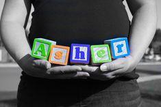 Baby Asher's pregnancy photo
