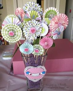 Pretty Paper Rosette Projects- Valentines and Other Holidays