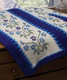 Morning Glory Afghan- Tunisian crochet free pattern