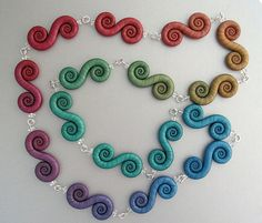 Double-Spiral-Necklace by Edie Stanger aka clayjoy.