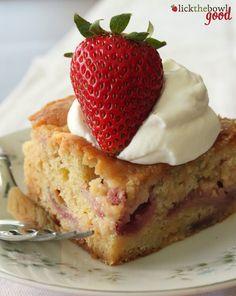 Strawberry White Chocolate Chip Cake