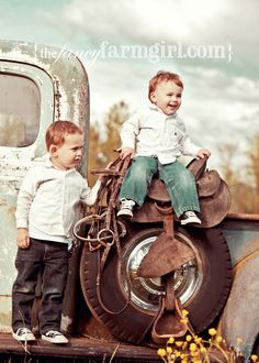 The Fancy Farmgirl Photography - People & Portraits- look at this picture everyday and smile. My cute little grandsons. Thanks Tiffany. Horse Photography, Vintage Photography, Children Photography, Family Photography, Cute Baby Pictures, Cute Photos, Kid Pictures, Cowboy Horse, Cowboy Boots