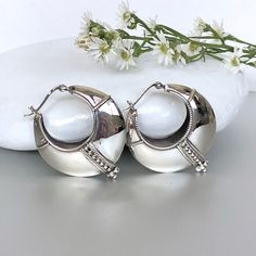 0444c191a3086c Bali Style Hoops · A personal favorite /silver-tribal-chunky-ear-hoops-egyptian  Silver