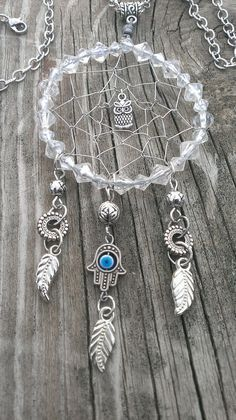 Ideas crochet mandala necklace dream catchers for 2019 Making Dream Catchers, Dream Catcher Art, Dream Catcher Necklace, Gypsy Jewelry, Wire Jewelry, Jewelry Crafts, Jewelery, Los Dreamcatchers, Diy Dream Catcher Tutorial