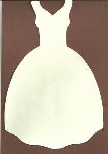 Wedding Dress Shape Card (SVG)