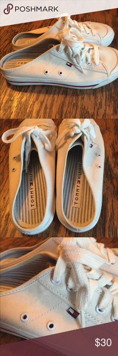 Vintage Tommy Hilfiger Canvas Sliders sz 7 Vintage Tommy Hilfiger Canvas Sliders sz 7  Mint - like new condition. Tommy Hilfiger Shoes Sneakers