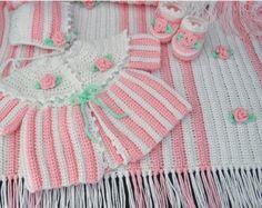 Rosebud Layette Crochet Pattern