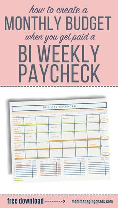 Struggling to budget your bi weekly paychecks and pay monthly bills? In this post I'll show you How to Budget Monthly Bills on a Bi weekly Paycheck. Learn how to create a monthly budget that works with your bi paychecks and even find ways to say money in the process. Monthly Budget | Bi Weekly Savings Plan Low Income| Money Saving Tips | Bi Weekly Budget Weekly Savings Plan, Weekly Budget, Monthly Budget, Budget Planner, Best Money Saving Tips, Ways To Save Money, Money Tips, Saving Money, Budgeting Finances