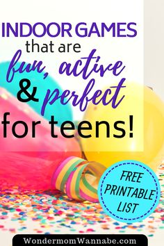 The Best Indoor Teen Party Games These indoor games for teens are perfect for entertaining a group of teenagers! Fun Games For Teenagers, Group Activities For Teens, Fun Games For Toddlers, Fun Group Games, Fun Indoor Activities, Birthday Activities, Summer Activities, Kid Games, Summer Fun List