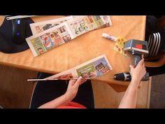 Papírové pletení - motání ruliček. - YouTube