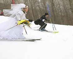 Image result for wedding skiing