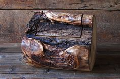 Rustic Log Box Aspen Wood Home Décor Accent by TheRusticNature