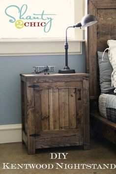 DIY End Tables with Step by Step Tutorials - DIY Kentwood Nightstand - Cheap and Easy End Table Projects and Plans - Wood, Storage, Pallet, Crate, Modern and Rustic. Bedroom and Living Room Decor Ideas http://diyjoy.com/diy-end-tables