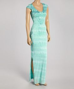 This Blue Aphrodite Cap-Sleeve Maxi Dress by WOODLEIGH is perfect! #zulilyfinds