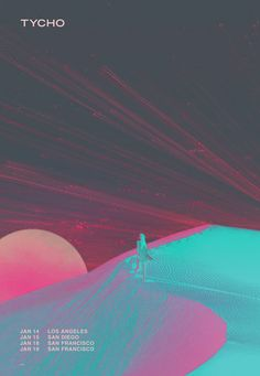 Tycho announces California dates and collaborates with Charles Bergquist on tour poster