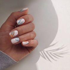 Stylish Nails, Trendy Nails, Cute Nails, Cute Shellac Nails, Acrylic Nails, Diy Nails, Nail Art Vernis, Nail Manicure, Minimalist Nails