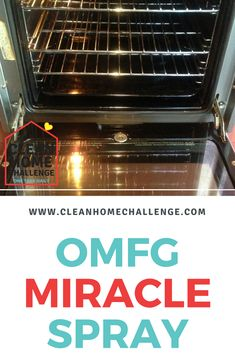 Get your oven sparkling clean with a natural home made clean… OMFG Miracle Spray. Get your oven sparkling clean with a natural home made cleaning solution. Deep Cleaning Tips, House Cleaning Tips, Cleaning Solutions, Spring Cleaning, Cleaning Products, Homemade Toilet Cleaner, Clean Baking Pans, Cleaning Painted Walls, Glass Cooktop